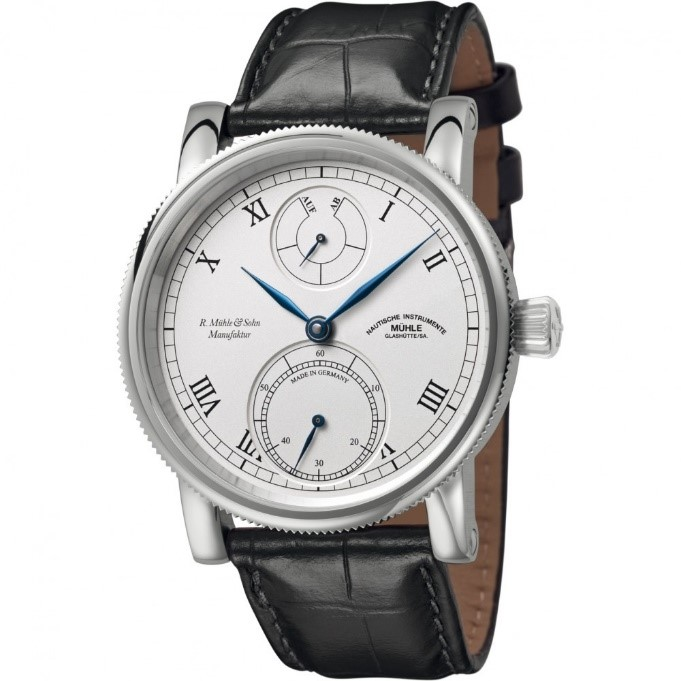 Men's Mühle Glashutte Robert Muhle Kleine Auf Ab Manufacture Mechanical Watch