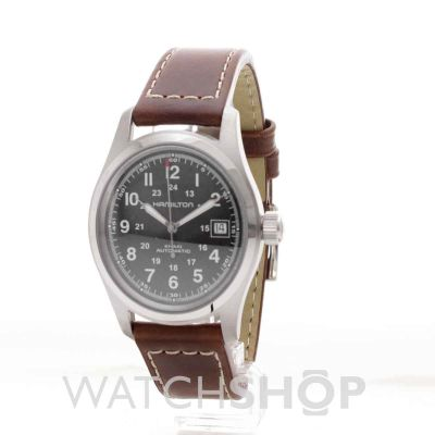 mens hamilton khaki field 38mm automatic watch h70455533
